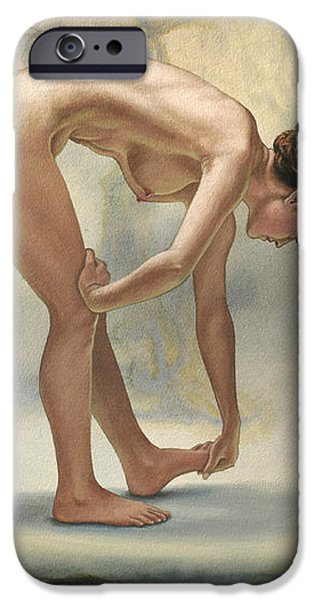 Bending Figure in Abstract iPhone Case by Paul Krapf
