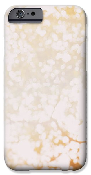 Nature Abstracts iPhone Cases - Beneath a tree 14 4948 triptych set 1 of 3 iPhone Case by Ulrich Schade