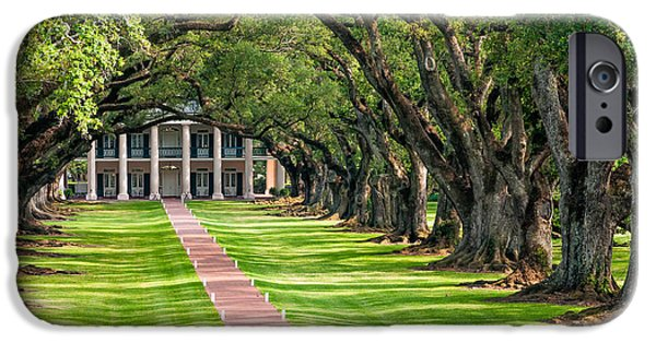 Oak Alley Plantation iPhone Cases - Beneath Live Oaks iPhone Case by Steve Harrington