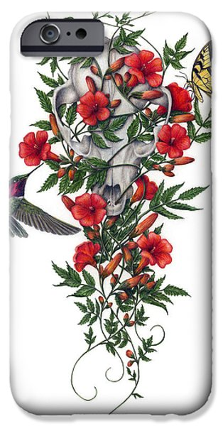 Colored Pencils iPhone Cases - Beneath Summers Promise iPhone Case by Pat Erickson