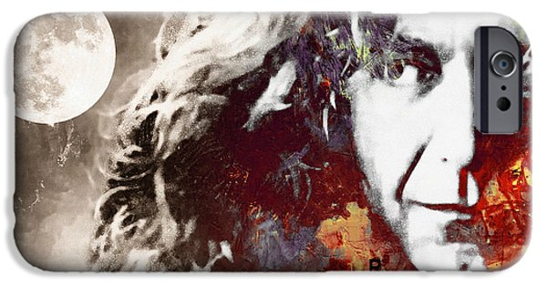 Robert Plant iPhone Cases - Beneath the Summer Moon iPhone Case by Stefan Kuhn