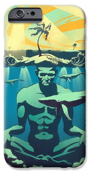 Sun Rays Paintings iPhone Cases - Beneath The Surface iPhone Case by Patrick Horn