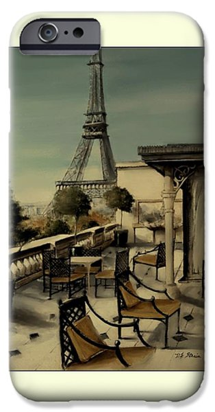 Table Wine Mixed Media iPhone Cases - Beneath the Tower   Number 11 iPhone Case by Diane Strain