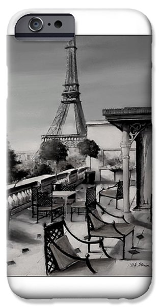 Table Wine Mixed Media iPhone Cases - Beneath the Tower   Number 12 iPhone Case by Diane Strain
