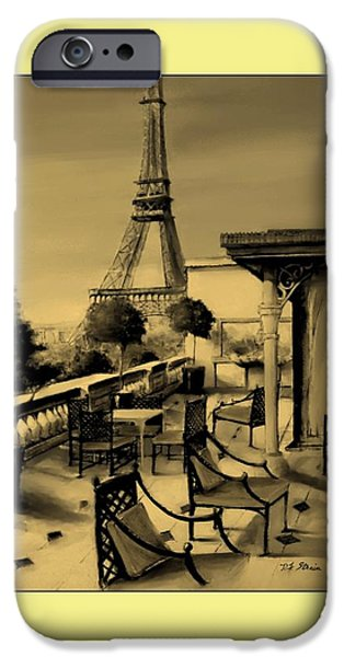 Table Wine Mixed Media iPhone Cases - Beneath the Tower   Number 14 iPhone Case by Diane Strain