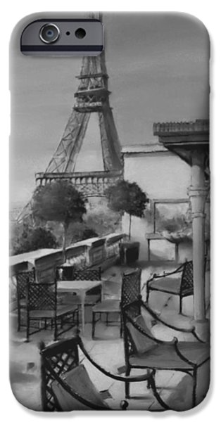 Table Wine Mixed Media iPhone Cases - Beneath the Tower  Number 5 iPhone Case by Diane Strain