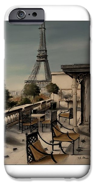 Table Wine Mixed Media iPhone Cases - Beneath the Tower   Number 9 iPhone Case by Diane Strain