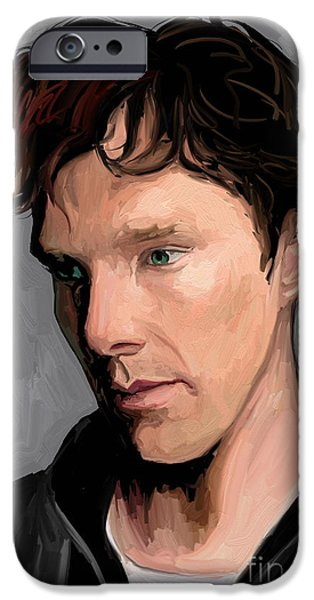 Benedict iPhone Cases - Benedict Cumberbatch iPhone Case by Dori Hartley