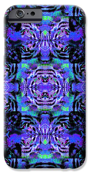 Bengal Tiger Abstract 20130205m80 iPhone Case by Wingsdomain Art and Photography