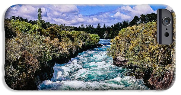 Deschutes River iPhone Cases - Benham Rapids Oregon iPhone Case by  Bob and Nadine Johnston