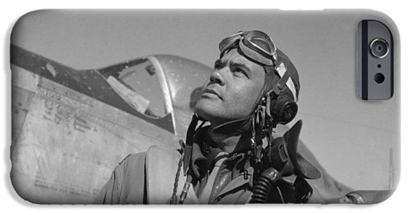 Black History iPhone Cases - Benjamin Davis WW2 Tuskegee Airmen iPhone Case by War Is Hell Store