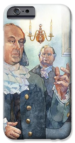 Benjamin Franklin at Albany Congress iPhone Case by Matthew Frey