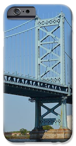 Benjamin Franklin Bridge iPhone Case by Sonali Gangane