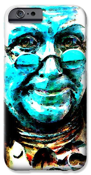 Benjamin Franklin - Historic Figure Pop Art By Sharon Cummings iPhone Case by Sharon Cummings
