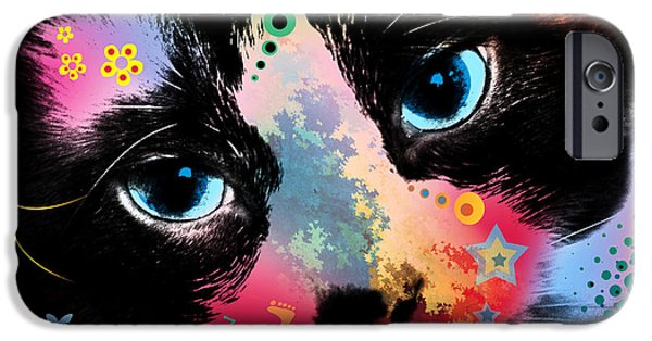 Pop Surrealism Digital iPhone Cases - Benjamin iPhone Case by Mark Ashkenazi