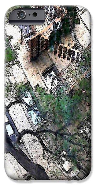 Bennett Avenue Fire Escape iPhone Case by Sarah Loft