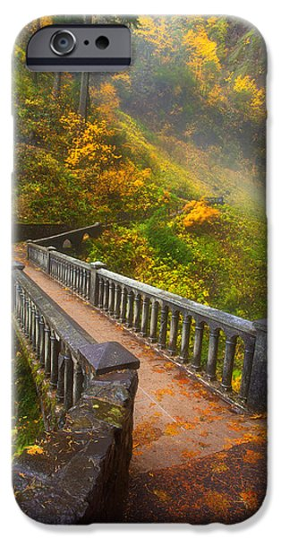 Tree Art Print iPhone Cases - Benson Bridge Fall Colors iPhone Case by Darren  White
