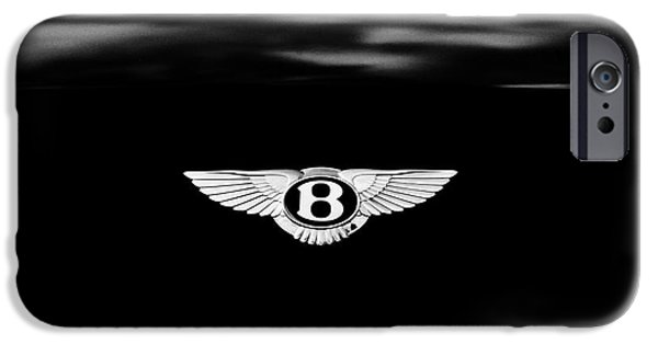 Car Mascots iPhone Cases - Bentley Continental GT  iPhone Case by Tim Gainey