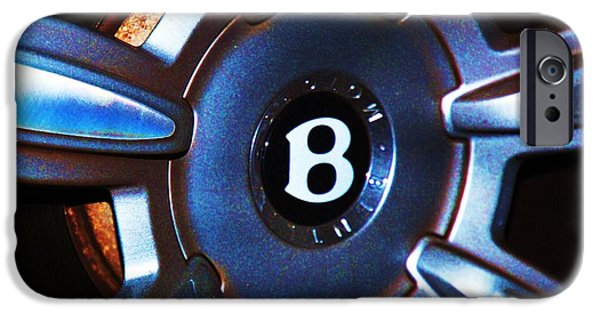 Stainless Steel Frame iPhone Cases - Bentley Hub Cap iPhone Case by Marcus Dagan