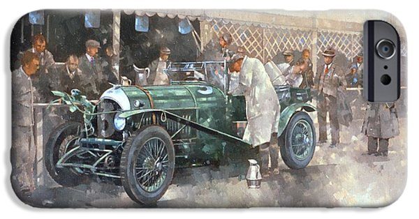 Exterior iPhone Cases - Bentley Old No.7 Oil On Canvas iPhone Case by Peter Miller