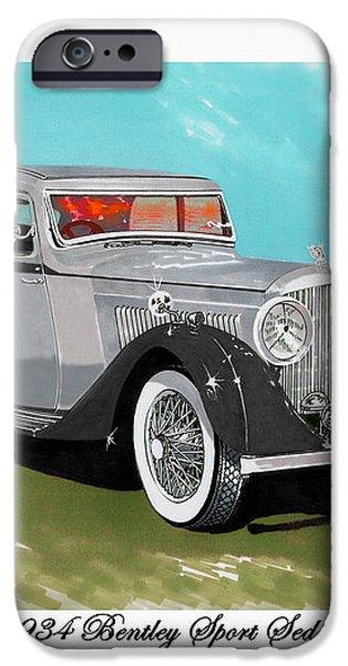 Bentley Sport Sedan 1934 iPhone Case by Jack Pumphrey