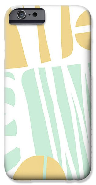 Shape iPhone Cases - Bento 1- Abstract Shape Painting iPhone Case by Linda Woods