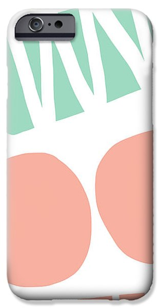 Shape iPhone Cases - Bento 2- abstract shapes art iPhone Case by Linda Woods