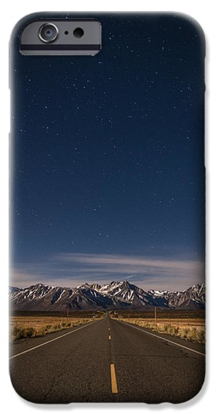 Mountain Road iPhone Cases - Benton Crossing Rd. iPhone Case by Cat Connor