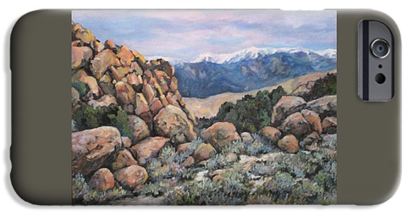 Impressionistic Landscape Paintings iPhone Cases - Benton iPhone Case by Donna Tucker