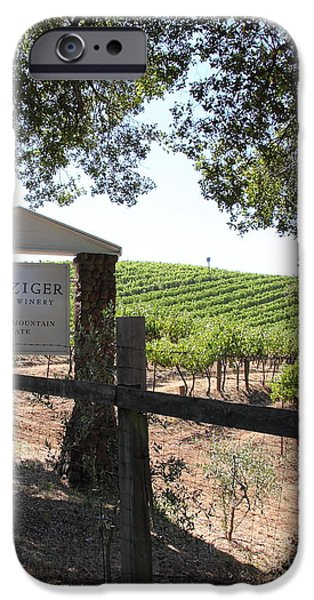 Pastoral Vineyard iPhone Cases - Benziger Winery In The Sonoma California Wine Country 5D24592 vertical iPhone Case by Wingsdomain Art and Photography