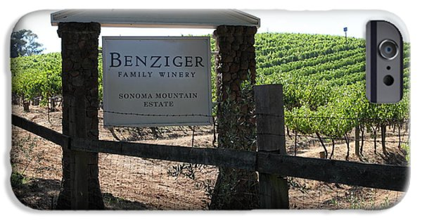 Pastoral Vineyard iPhone Cases - Benziger Winery In The Sonoma California Wine Country 5D24593 iPhone Case by Wingsdomain Art and Photography