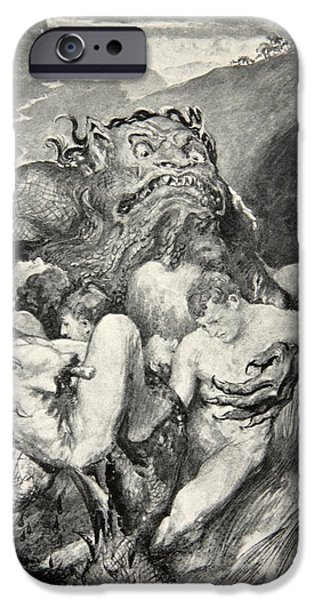 Epic iPhone Cases - Beowulf Print iPhone Case by John Henry Frederick Bacon