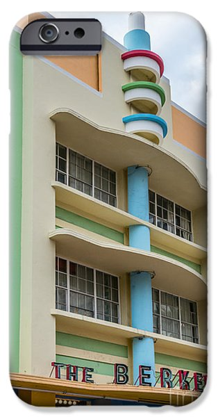 Collins iPhone Cases - Berkeley Shores Hotel - South Beach - Miami - Florida iPhone Case by Ian Monk