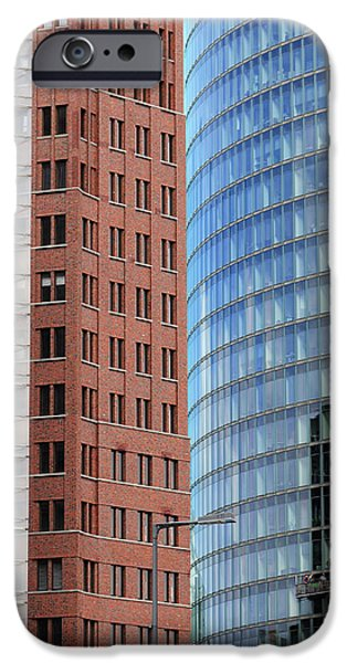 Berlin Buildings Detail iPhone Case by Matthias Hauser