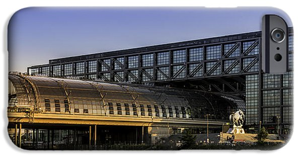 Connection Pyrography iPhone Cases - Berlin central station iPhone Case by Timo Peter Gronlund