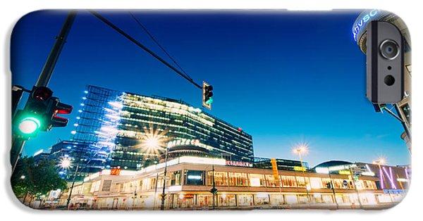 Kudamm iPhone Cases - Berlin Neues Kranzler Eck iPhone Case by Alexander Voss