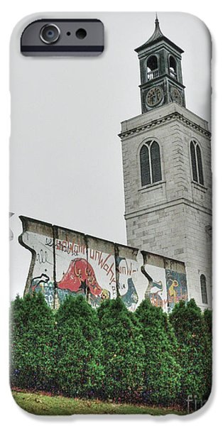 Saint Christopher iPhone Cases - Berlin Wall Segment iPhone Case by David Bearden