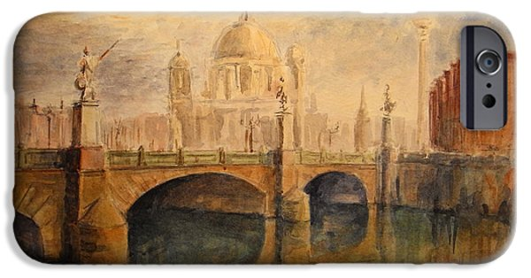 Original Watercolor iPhone Cases - Berliner Dom iPhone Case by Juan  Bosco