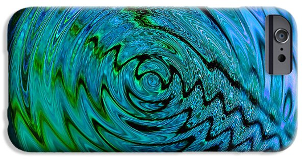 Business Digital Art iPhone Cases - Bermuda Blue iPhone Case by Michael Durst