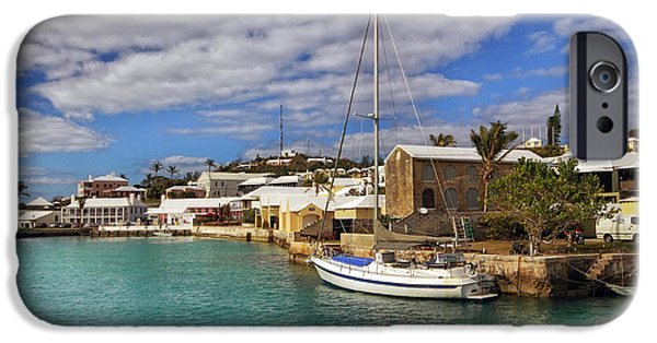 Boats iPhone Cases - Bermuda St George Harbour iPhone Case by Charline Xia