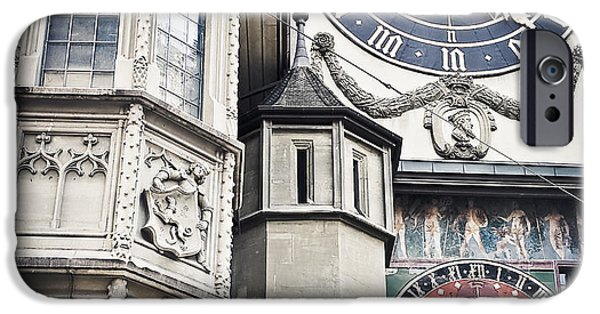 Work Tool Photographs iPhone Cases - Berne Famous Clock iPhone Case by Mesha Zelkovich