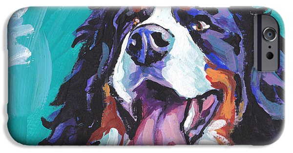Recently Sold -  - Puppies iPhone Cases - Berner All Smiles iPhone Case by Lea