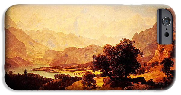 Hofner iPhone Cases - Bernese Alps As Seen Near Kusmach 1859 iPhone Case by MotionAge Designs