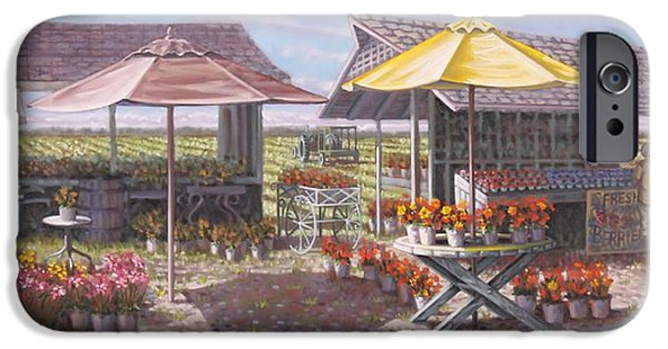 Farmstand Paintings iPhone Cases - Berries and Bunches iPhone Case by Gary Long
