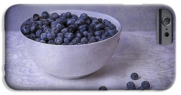 Berry Mixed Media iPhone Cases - Berries In White Bowl iPhone Case by Michael Petrizzo