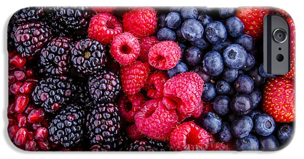 Locally Grown iPhone Cases - Berry Delicious iPhone Case by Teri Virbickis