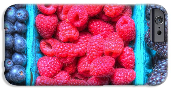 Basket iPhone Cases - Berry Trio iPhone Case by Heidi Smith