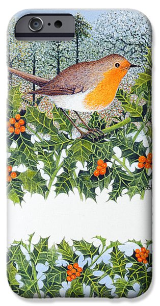 Berry iPhone Cases - Berrying Oil On Canvas iPhone Case by Pat Scott