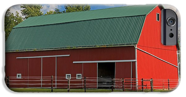 Indiana Scenes iPhone Cases - Bertch Barn - Monroe Indiana - Adams County iPhone Case by Suzanne Gaff