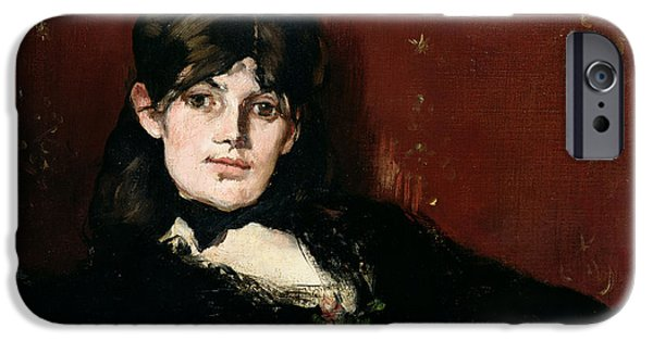 Painter Photographs iPhone Cases - Berthe Morisot 1841-95 Reclining, 1873 Oil On Canvas iPhone Case by Edouard Manet